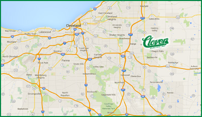 Cleveland OH Home Commercial Electrical Service Repair Clover - Cleveland on us map